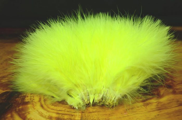 strung blood quill marabou fl yellow