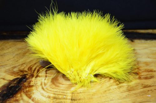 strung blood quill marabou yellow