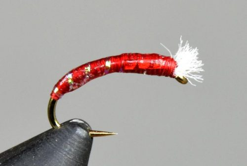 3D glass chironomid blood red