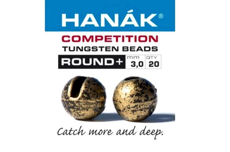 hanak competition slotted tungsten beads bronze