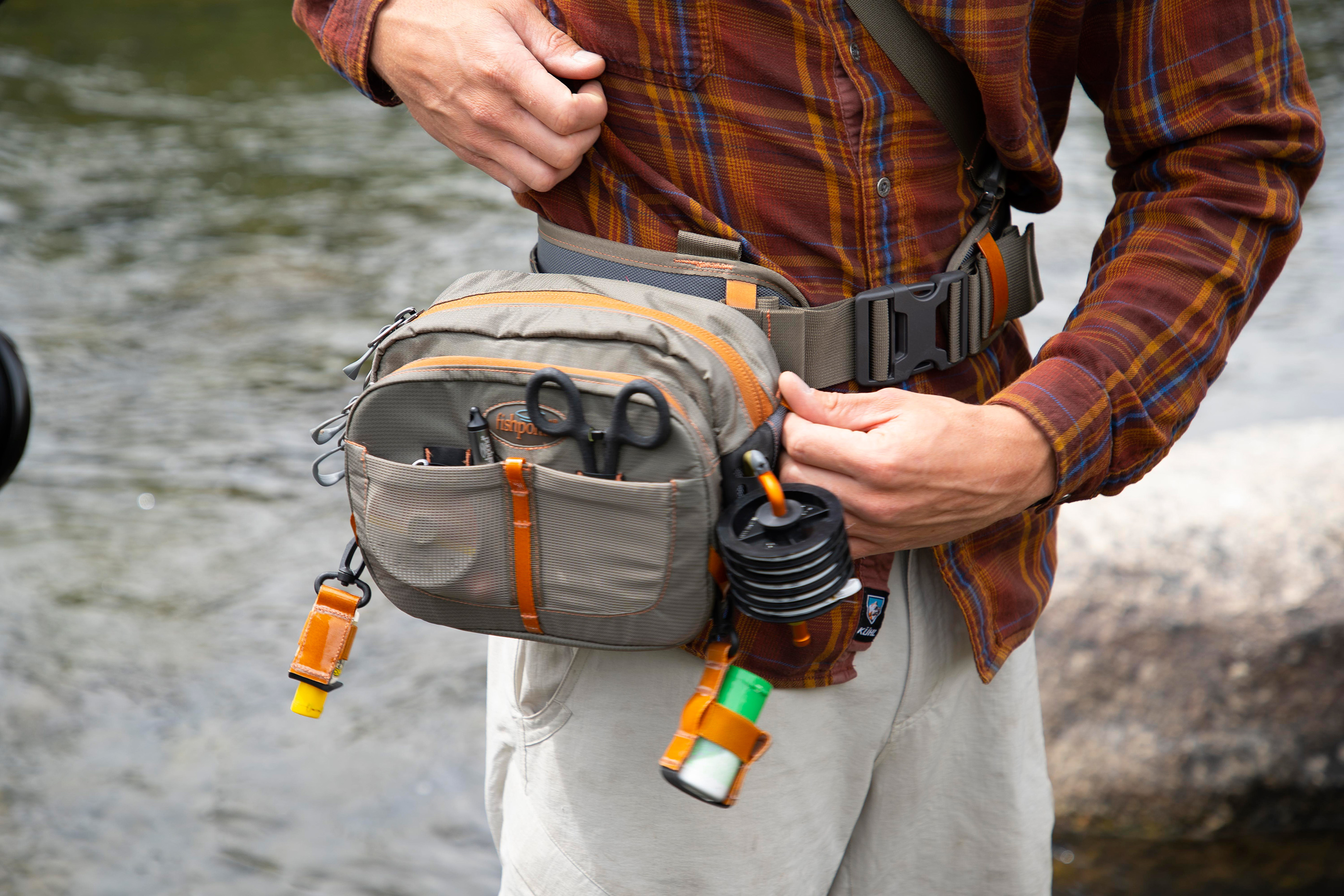 fishpond switchback wading belt system pack view