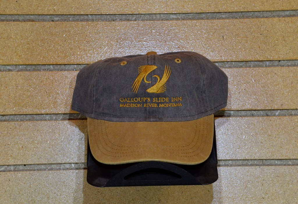 slide inn two tone hat faded charcoal gold
